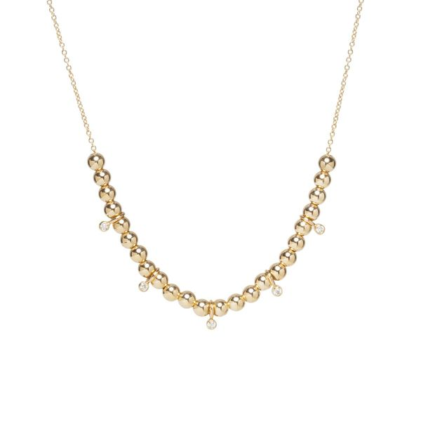 Gold Bead Diamond Necklace Mystique Jewelers Alexandria, VA