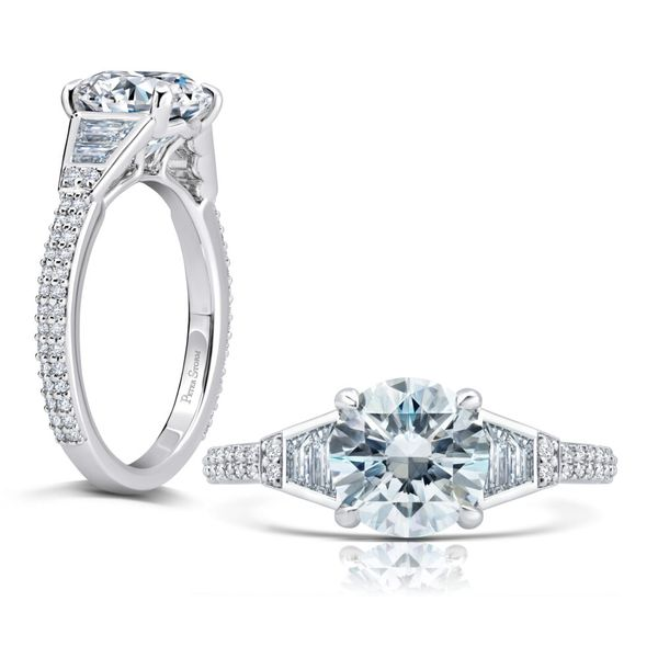 Diamond Engagement Ring with Baguettes and Rounds Mystique Jewelers Alexandria, VA