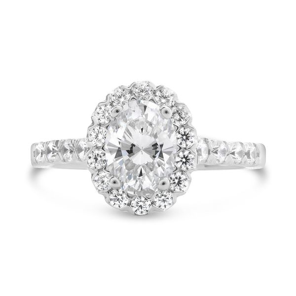 Classic Halo Engagement Setting Mystique Jewelers Alexandria, VA