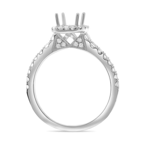 Emerald Cut Pave Engagement Setting Image 2 Mystique Jewelers Alexandria, VA