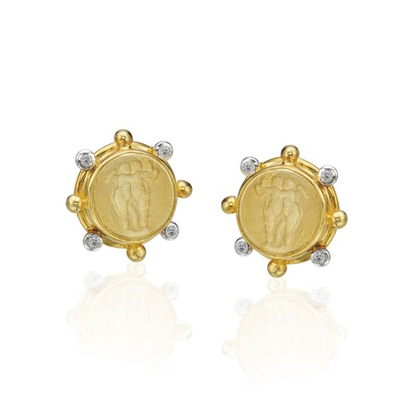 14K Yellow Gold Etruscan Earrings Mystique Jewelers Alexandria, VA