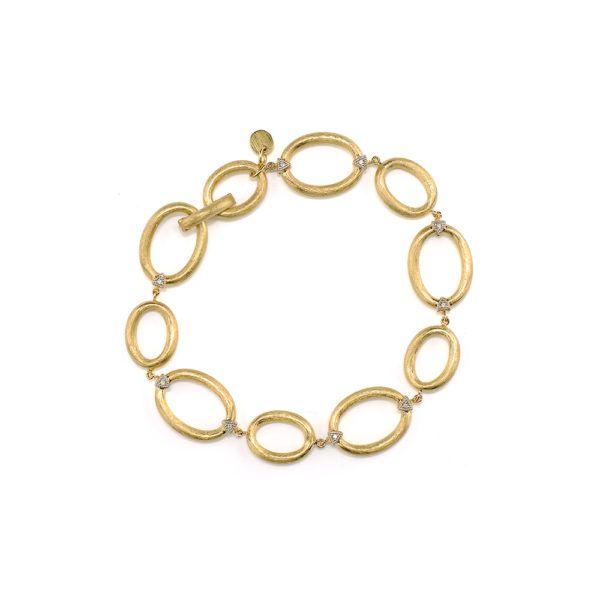 Jude France Gold Oval Link Chain Bracelet Mystique Jewelers Alexandria, VA
