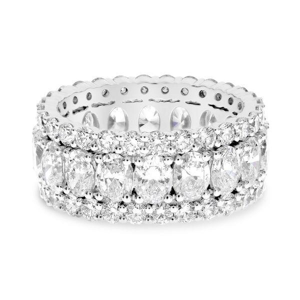Platinum Eternity Ring with Oval Diamonds Mystique Jewelers Alexandria, VA
