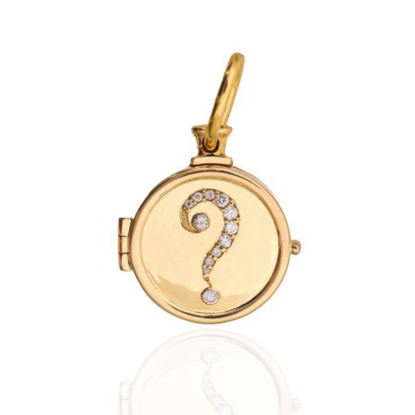 Question Mark Locket Mystique Jewelers Alexandria, VA