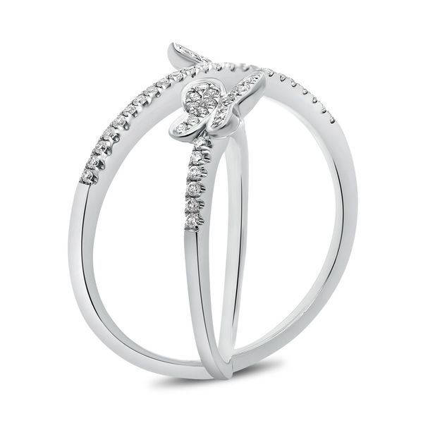 White Gold & Diamond Butterfly Ring  Image 2 Mystique Jewelers Alexandria, VA