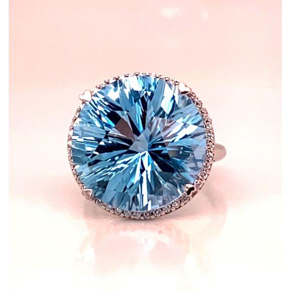 Blue Topaz ring Mystique Jewelers Alexandria, VA
