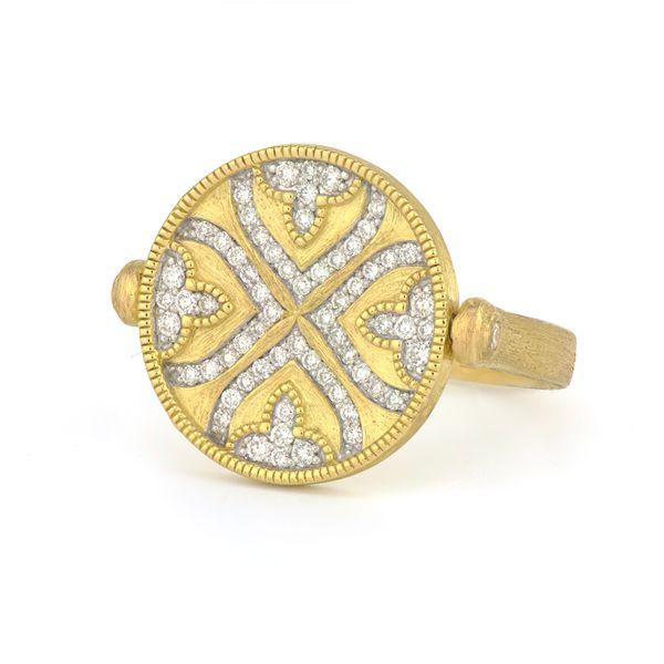 Moroccan Pave Quatrefoil Spinning Disc Ring Mystique Jewelers Alexandria, VA