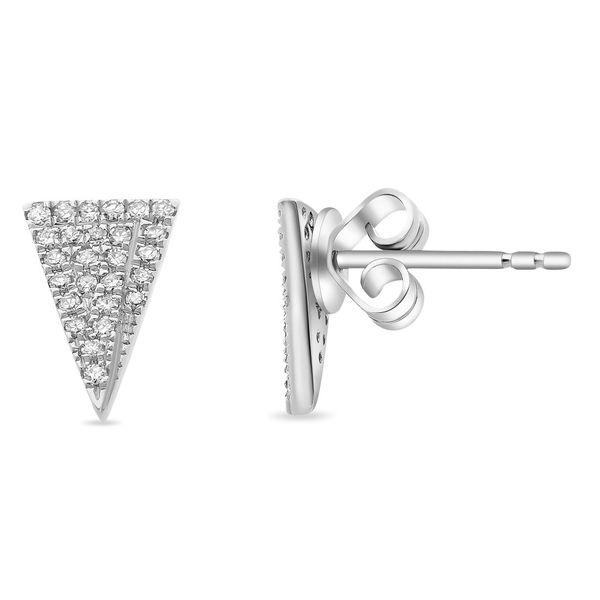 Triangle Post Stud Earrings with Diamonds Mystique Jewelers Alexandria, VA