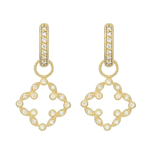 Pave Open Clover Marquis Earring Charms Mystique Jewelers Alexandria, VA