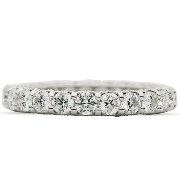 18kt wg Diamond Eternity 2.20ctw Band Image 2 Mystique Jewelers Alexandria, VA