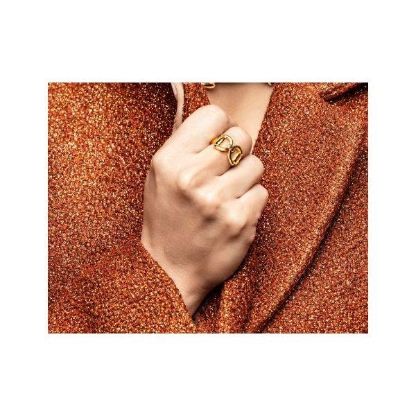 Gold Tied Bit Ring Image 2 Mystique Jewelers Alexandria, VA