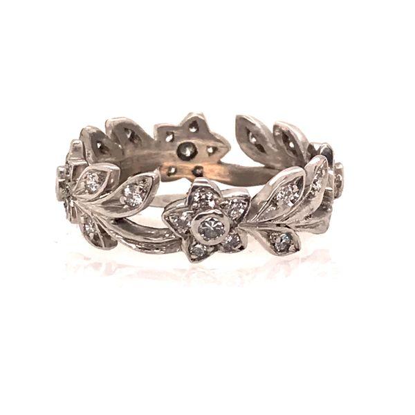 Diamond & Platinum Floral Design Ring Mystique Jewelers Alexandria, VA
