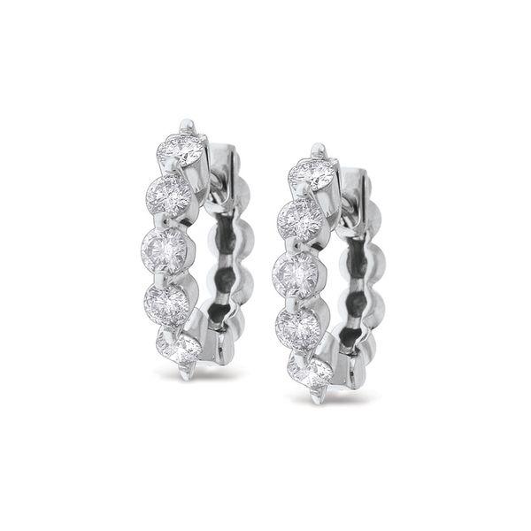 Gold and Diamond Mini Hoops Mystique Jewelers Alexandria, VA