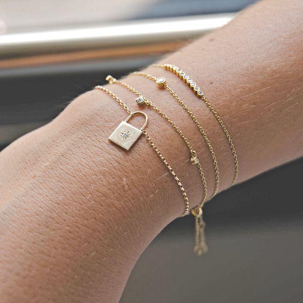 14k single bezel diamond bracelet Image 2 Mystique Jewelers Alexandria, VA