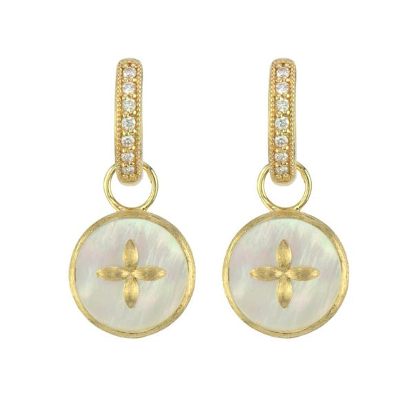 Moroccan Cross And Mother Of Pearl Earring Charm Mystique Jewelers Alexandria, VA