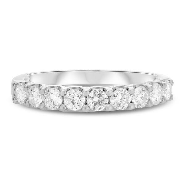 Shared Prong White Gold Diamond Band Mystique Jewelers Alexandria, VA
