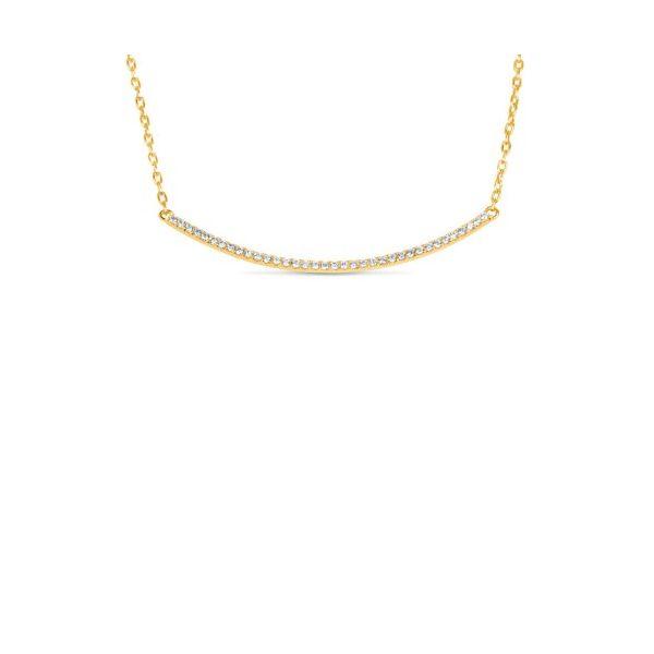 Diamond and Gold Bar Necklace Mystique Jewelers Alexandria, VA