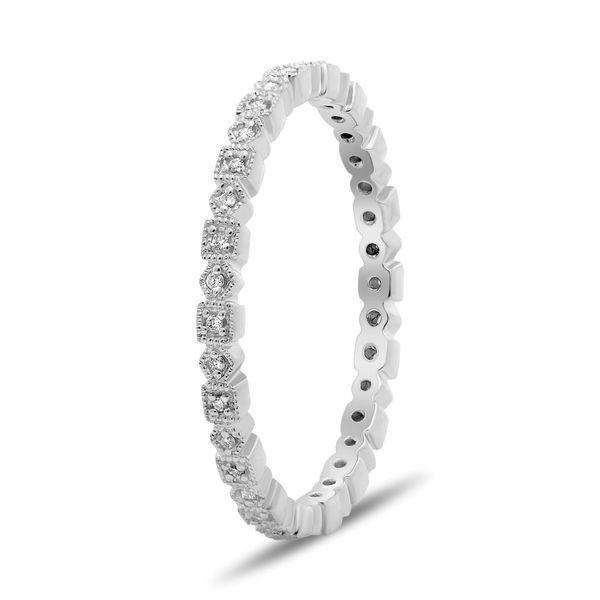Geometric Diamond Eternity Band  Image 2 Mystique Jewelers Alexandria, VA