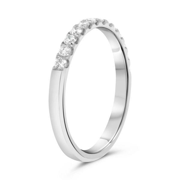 Diamond Half Eternity Band Image 3 Mystique Jewelers Alexandria, VA