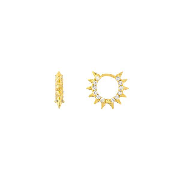 SPIKED HUGGIE EARRINGS Mystique Jewelers Alexandria, VA