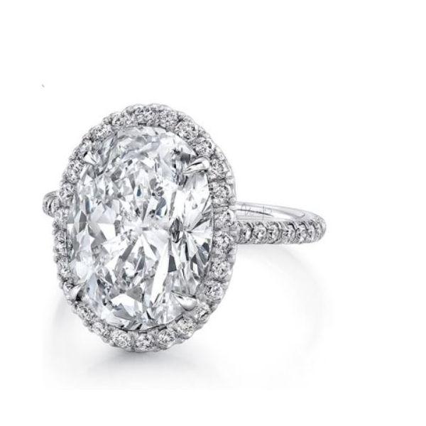 Oval Diamond Halo Ring Mystique Jewelers Alexandria, VA