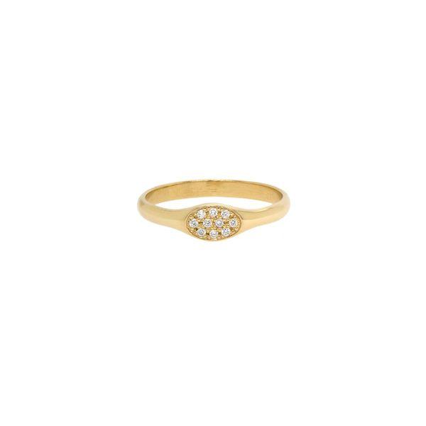 OVAL PAVE DIAMOND SIGNET RING Mystique Jewelers Alexandria, VA