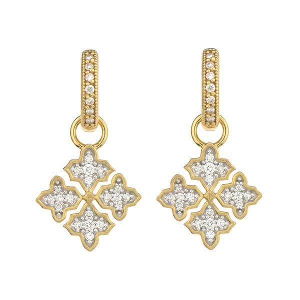 Moroccan Quatrefoil Maltese Pave Earring Charms Mystique Jewelers Alexandria, VA