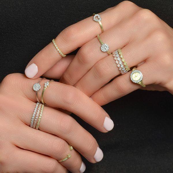 Petite Bezel Diamond Band Image 2 Mystique Jewelers Alexandria, VA