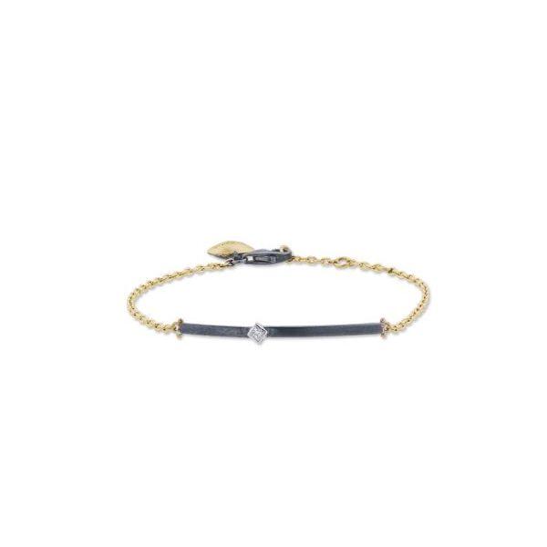 24kt Oxidized Sterling Diamond Chain Bracelet Mystique Jewelers Alexandria, VA