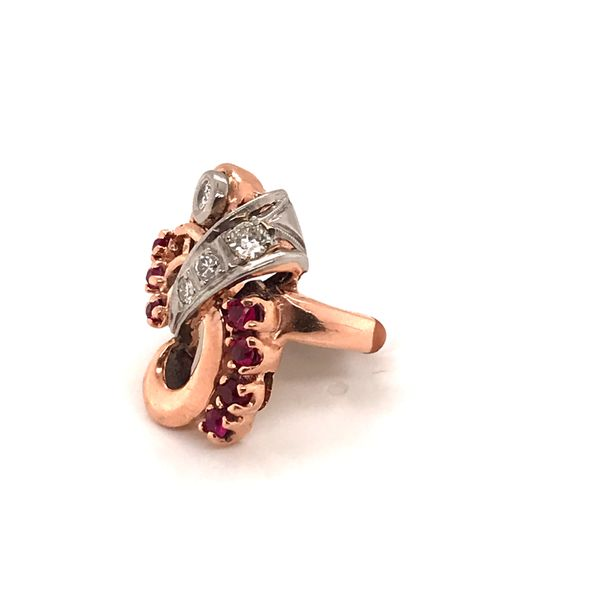 Surreal Ruby & Diamond Ring Image 2 Mystique Jewelers Alexandria, VA