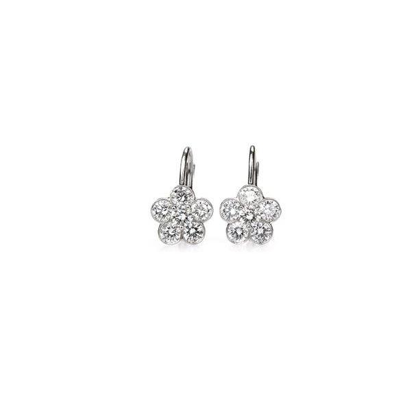 Diamond Drop Earrings  12 Round Brilliant Diamonds = 2.48ctw Platinum Mystique Jewelers Alexandria, VA