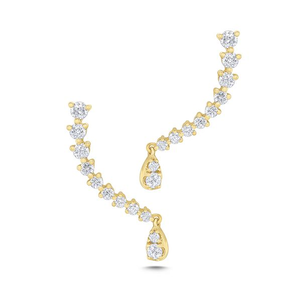 14k Gold and Diamond Climber Earring Mystique Jewelers Alexandria, VA