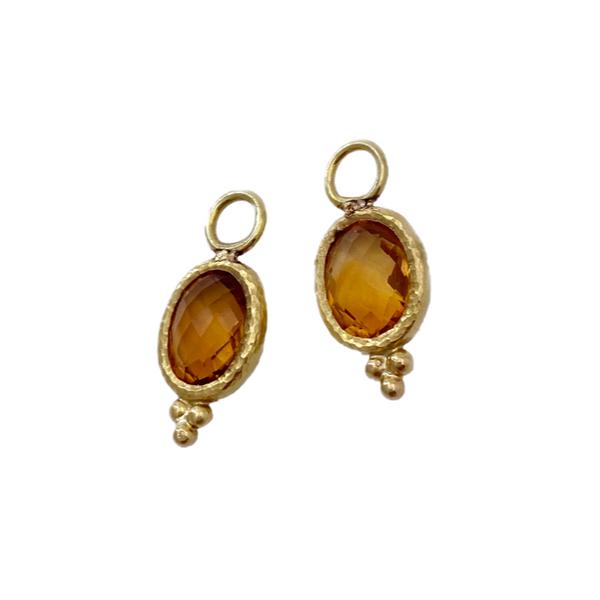 22kt Citrine Earring Charms Mystique Jewelers Alexandria, VA