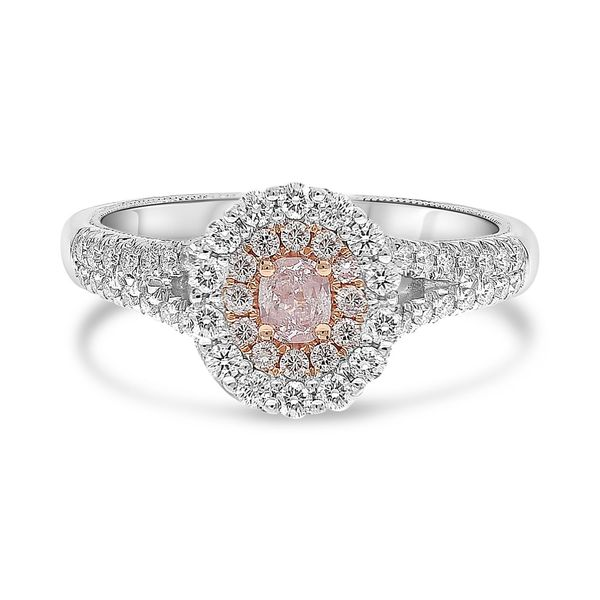 Vintage Inspired Pink and White Diamond Ring Mystique Jewelers Alexandria, VA