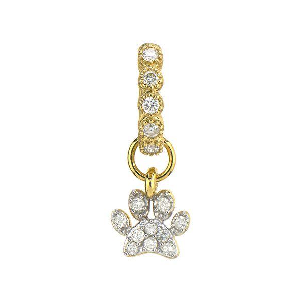 Petite Diamond Pave Paw Charm Mystique Jewelers Alexandria, VA