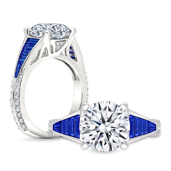 Sapphire and Diamond Engagement RMounting Mystique Jewelers Alexandria, VA