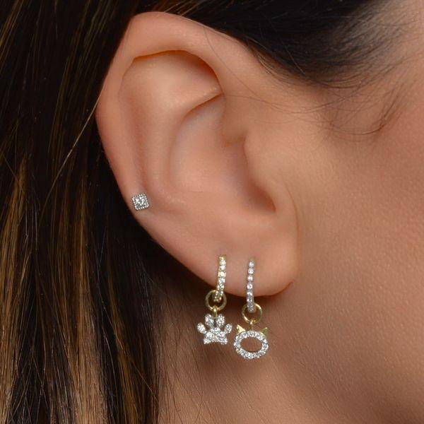 Petite Diamond Pave Paw Charm Image 2 Mystique Jewelers Alexandria, VA