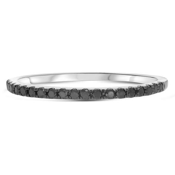 Half Pave Black Diamond Band Style Mystique Jewelers Alexandria, VA
