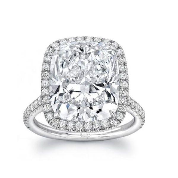 Cushion Cut Diamond Halo Ring Mystique Jewelers Alexandria, VA