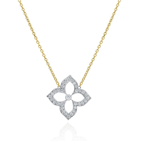 DIAMOND LOTUS PENDANT  Mystique Jewelers Alexandria, VA