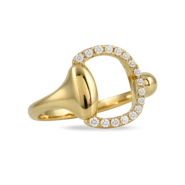 Gold Horse Bit Ring with Diamonds Mystique Jewelers Alexandria, VA