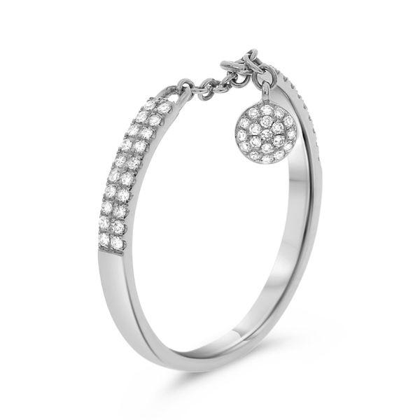 Chain Diamond Ring with Dangle Image 3 Mystique Jewelers Alexandria, VA