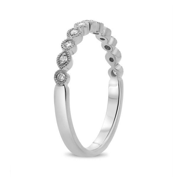 White Diamond Milgrain Band  Image 2 Mystique Jewelers Alexandria, VA