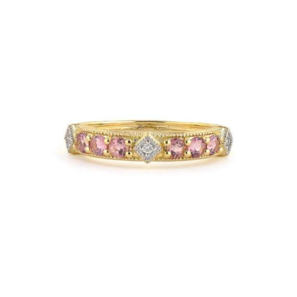 Tourmaline and Diamond Lisse Band Mystique Jewelers Alexandria, VA