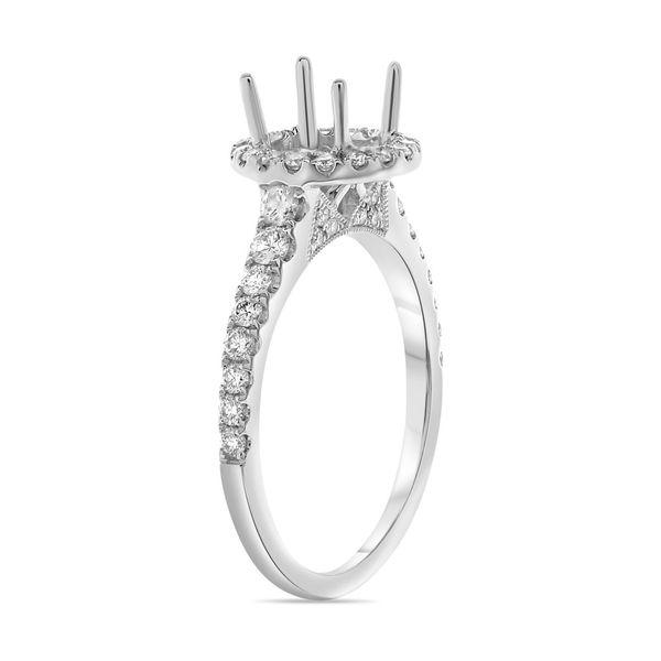 Round Diamond Pave Engagement Setting Image 2 Mystique Jewelers Alexandria, VA