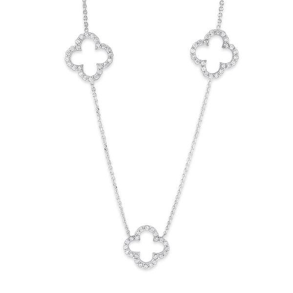 Diamond Triple Open Clover Necklace i Mystique Jewelers Alexandria, VA