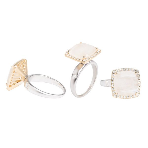 Rock Crystal Diamond Cocktail Ring Image 2 Mystique Jewelers Alexandria, VA