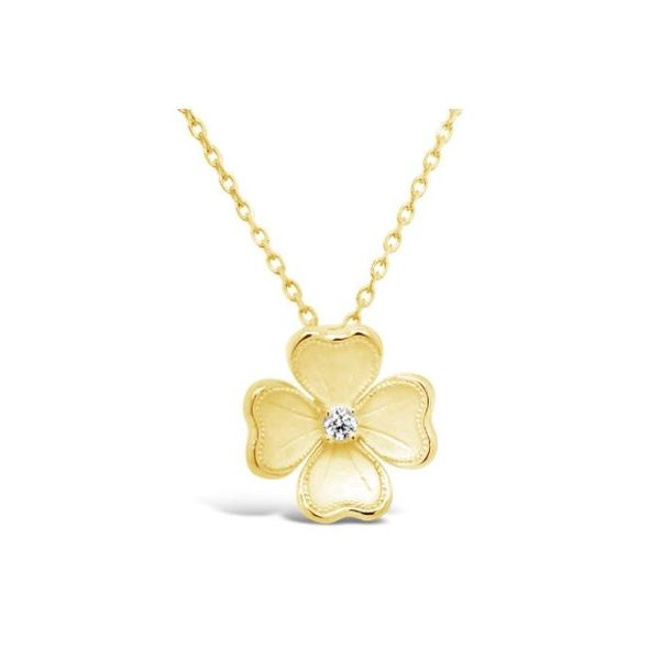 Gold Diamond Flower Pendant Mystique Jewelers Alexandria, VA