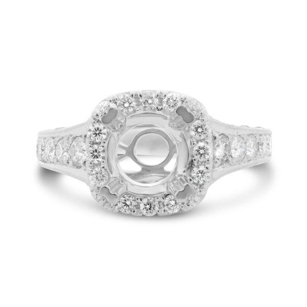 White Gold Paved Shank Engagement Setting Mystique Jewelers Alexandria, VA