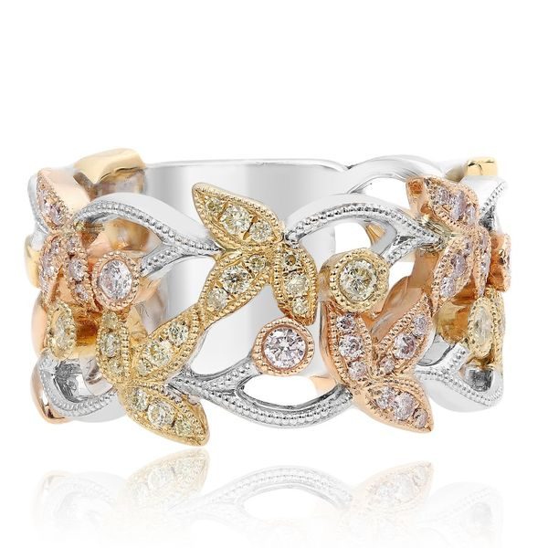 Mixed Metal Diamond Fashion Ring Mystique Jewelers Alexandria, VA